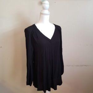 H&M Mama Black V-Neck Long Sleeve Blouse